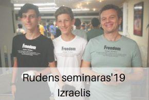Rudens seminaras'19 Izraelyje