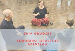 Prisimenant Rudens seminarą'19 Izraelyje